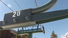 Chair lift number 20 Stock Footage