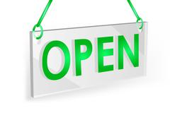 Open sign Stock Illustration