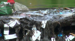 Debris and dirt on the water Stock Footage