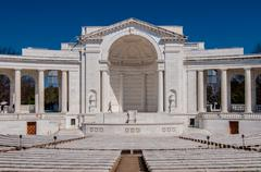 View  of the memorial amphitheater at arlington cemetery Stock Photos