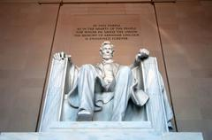 Abraham lincoln memorial in washington dc usa Stock Photos