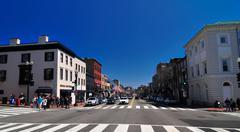 Georgetown washington dc streets Stock Photos