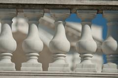 Neoclassical ionic architectural details Stock Photos