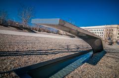 Washington dc - circa april 2013: pentagon memorial circa june 2009 in washin Stock Photos