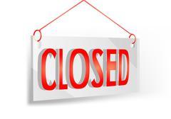 closed sign - stock illustration