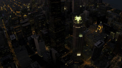 Aerial Overhead View Willis Tower, Downtown Chicago, USA - stock footage