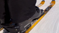 skiing by people - stock footage