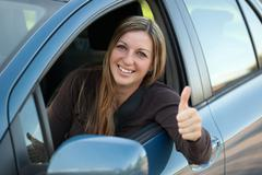 Stock Photo of happy driver