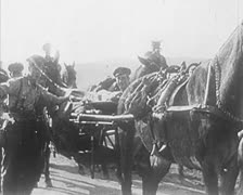 World War 1 - Soldiers Transport Stock Footage