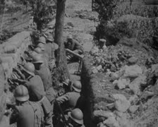 World War 1 - Soldier Trenches Stock Footage