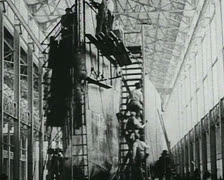World War 1 - Worker Build Ship Stock Footage