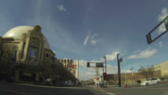 Driving through downtown Reno Nevada POV HD 001 Stock Footage