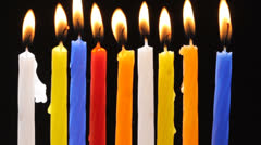Colorful candles - stock footage