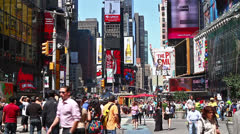 Times Square traffic at daytime Stock Footage