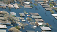 Heavy flooding natural disaster aerial Stock Footage