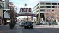 Reno Nevada Biggest Little City traffic HD 5274 Stock Footage