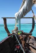 arabian dhow on indian ocean - stock photo