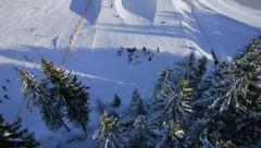 AERIAL: Snow halfpipe Stock Footage