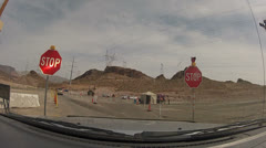 HD 30p Security check point Hoover Dam - Proceed to inspection - 2 Stock Footage