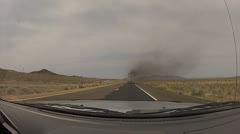 Hd 30p - 18 wheeler semi smokes and pollutes the air on a highway - 2 - stock footage