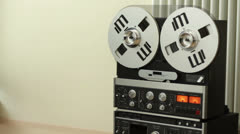 Retro Audio tape recorder HD Stock Footage
