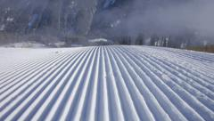 Perfectly groomed snow - stock footage