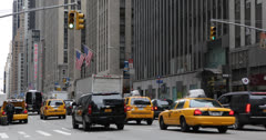 Ultra HD 4K New York City Street Traffic, Sixth Avenue in Midtown Manhattan, USA Stock Footage