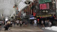 Fremont Street Las Vegas Stock Footage