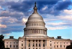 us capitol dome houses of congress washington dc - stock photo