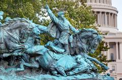 Cavalry charge us grant memorial capitol hill washington dc Stock Photos