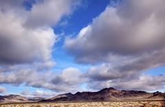 desert cloudscape california - stock photo