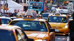 New York yellow cab Stock Footage