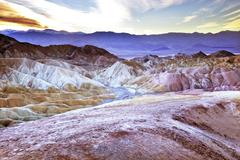 zabruski point death valley national park california - stock photo