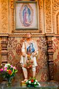 juan diego statute guadalupe shrine mission basilica san juan california - stock photo