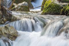 Silky smooth flowing water Stock Photos