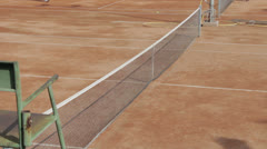 A red clay tennis court Stock Footage
