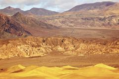 mesquite flat dunes grapevine mountains death valley national park california - stock photo