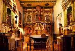 Stock Photo of serra chapel mission san juan capistrano church california