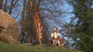 Crucifixion robber legionaries 01 Stock Footage