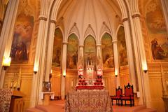 national shrine of saint francis of assisi altar san francisco california - stock photo