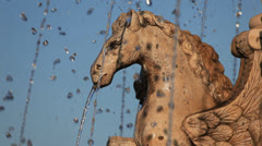 Fountain in Andalusia Spain Stock Footage
