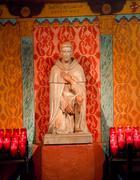 St. peregrine's shrine, cancer saint, serra chapel mission san juan capistran Stock Photos