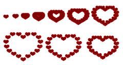 love - heart transformation - stock photo
