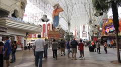 Las Vegas Freemont Street Stock Footage