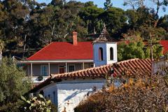 Old san diego town roofs cupola casa de estudillo california Stock Photos