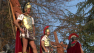 Crucifixion robber legionaries 04 Stock Footage