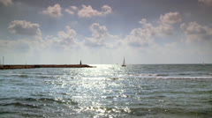 Beautiful Calm Ocean in the Summer 1 Stock Footage