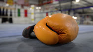 Stock Video Footage of Boxing Glove in Ring