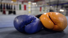 Boxing Glove in Ring Stock Footage