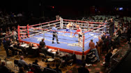 Stock Video Footage of Boxing Match Boxers Fighting Ring Opponent Fighters Audio